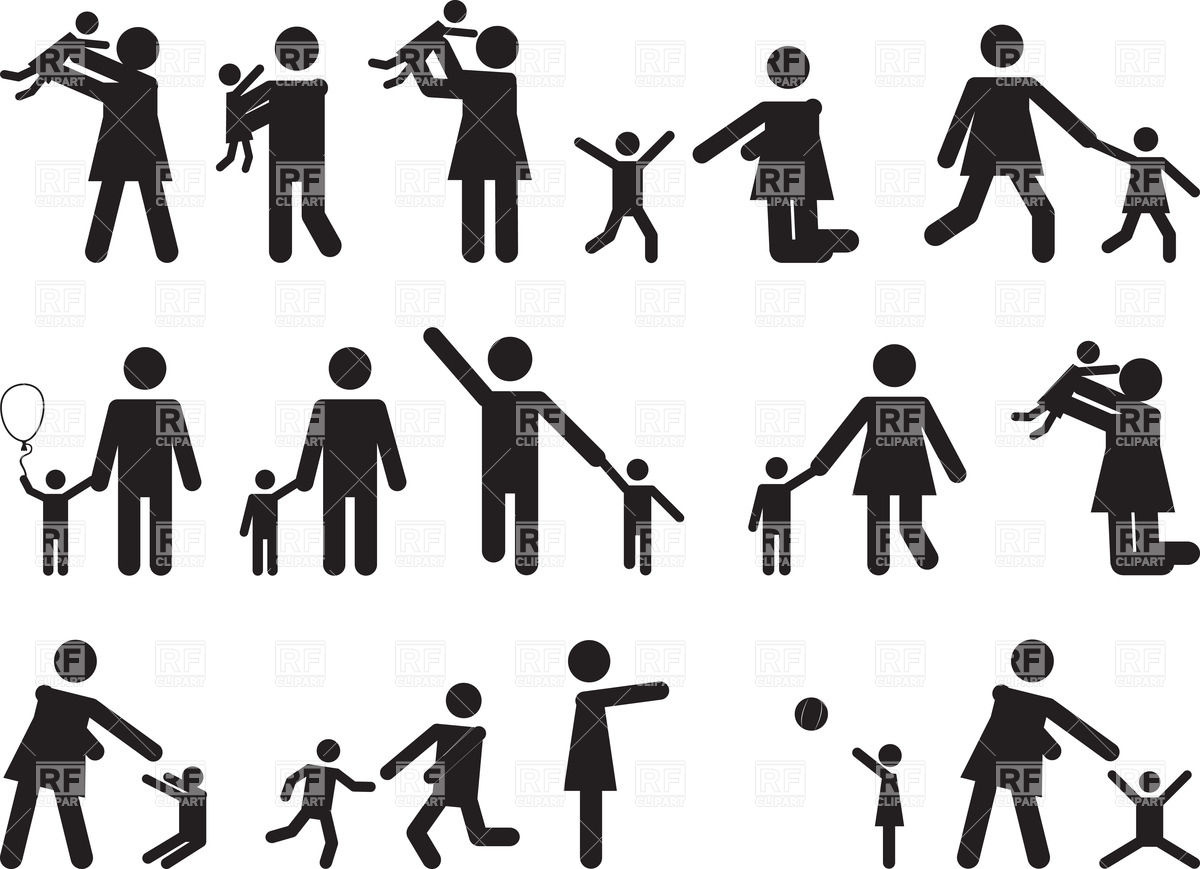 1200x869 Symbolic People As Families