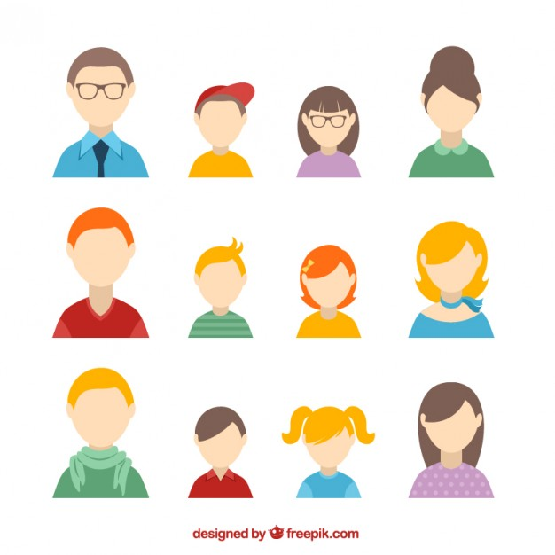 626x626 Family Avatars Vector Free Download