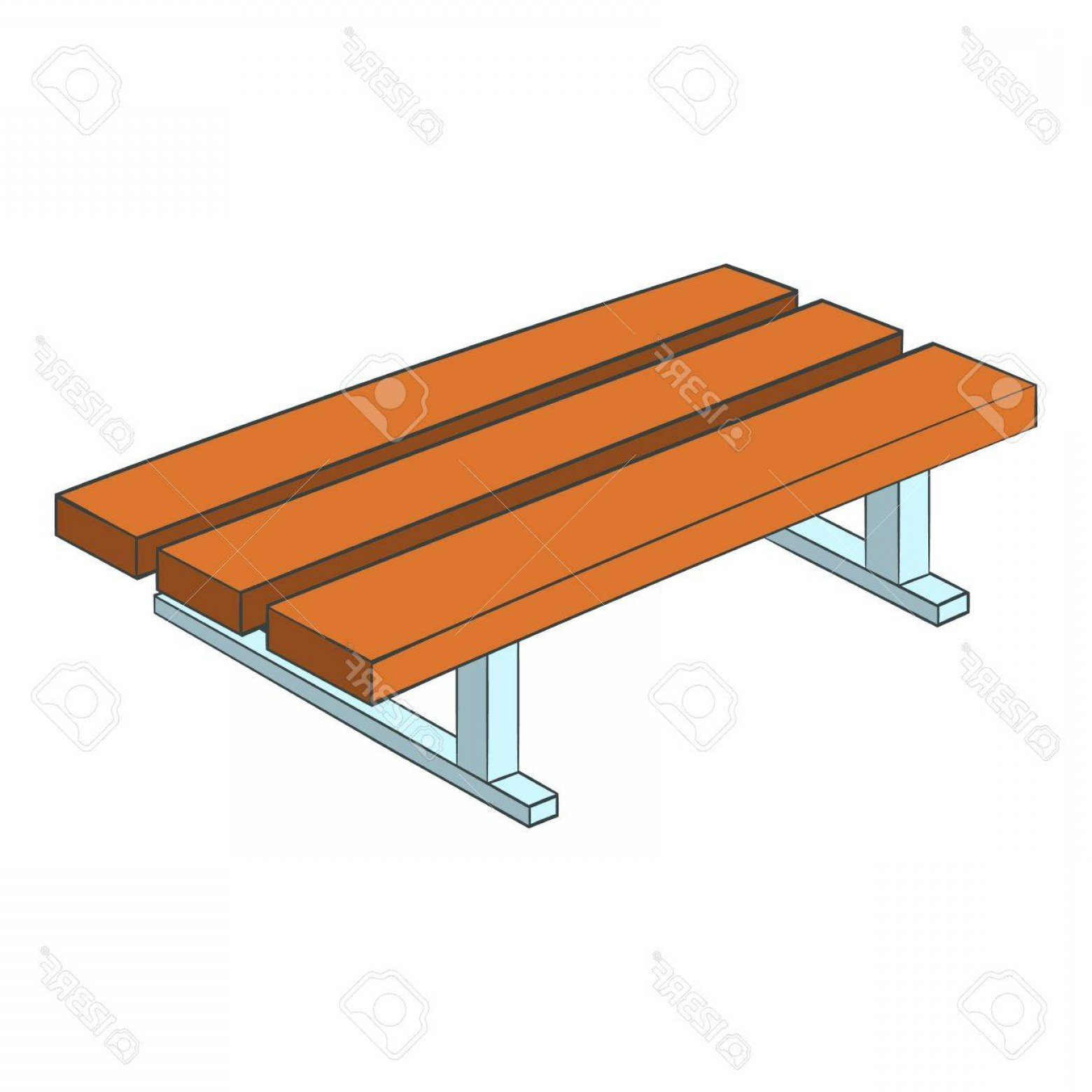 1560x1560 Photostock Vector Park Bench Icon Cartoon Illustration Of Park