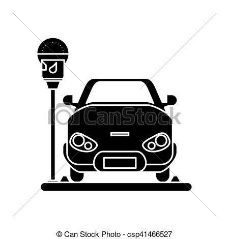 450x470 Car Vehicle And Parking Meter Design. Car Vehicle And... Vector