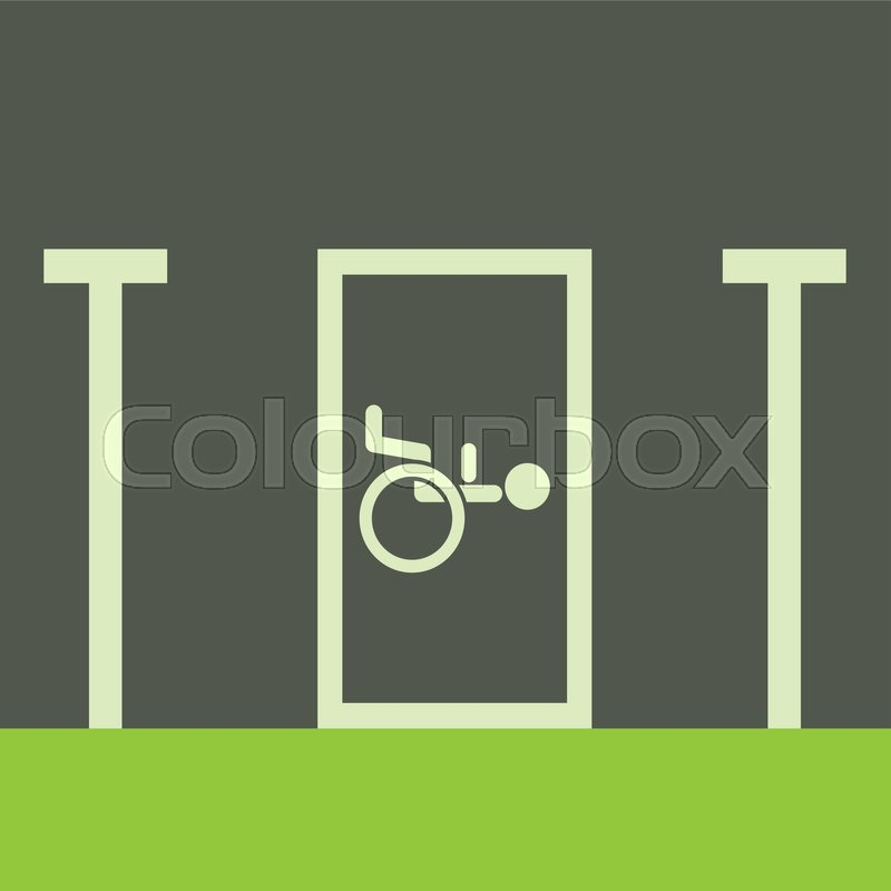 800x800 Disabled Parking Icon. Cartoon Illustration Of Disabled Parking