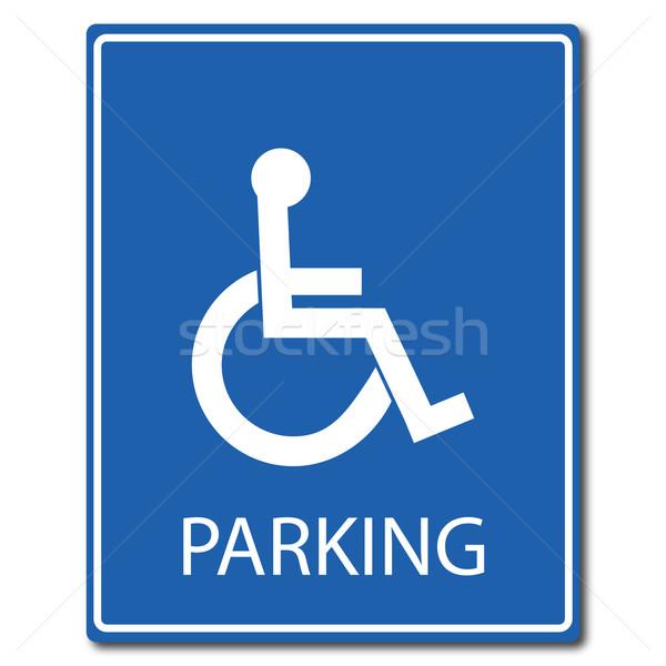 600x600 Handicap Parking Sign Vector Illustration Stephen Marques