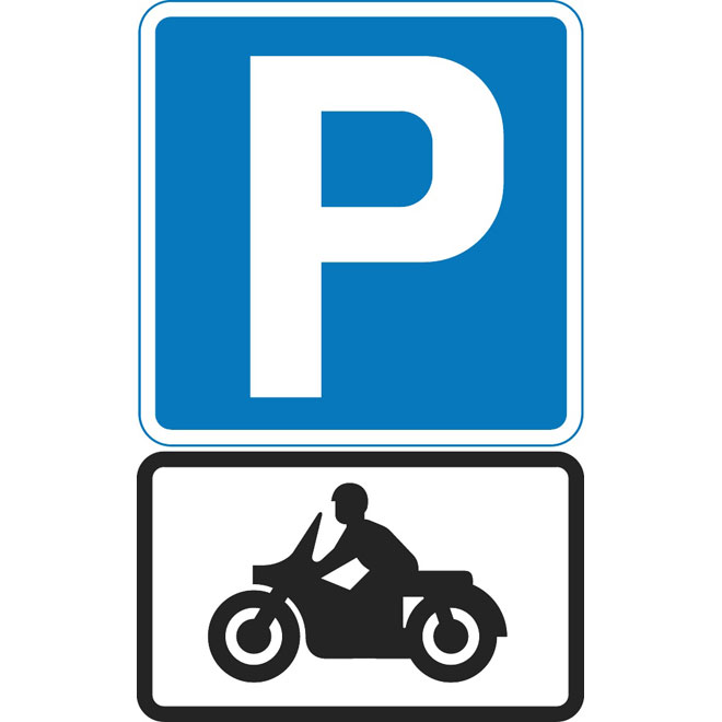 660x660 Parking For Motorcycles Vector Sign