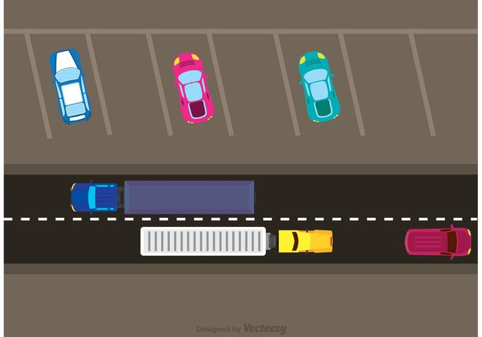 700x490 Car Traffic And Parking Vector