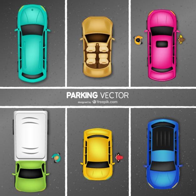 626x626 Car Parking Vector Vector Free Download