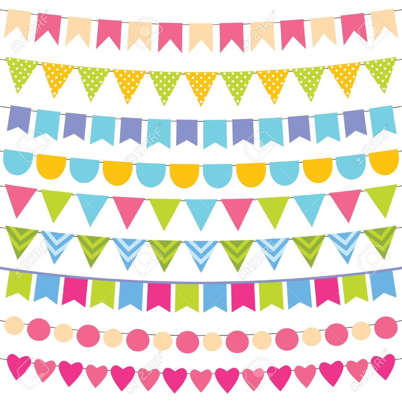 1300x1300 Birthday Party Vector Clipart (85 ), Birthday Decorations Clip Art
