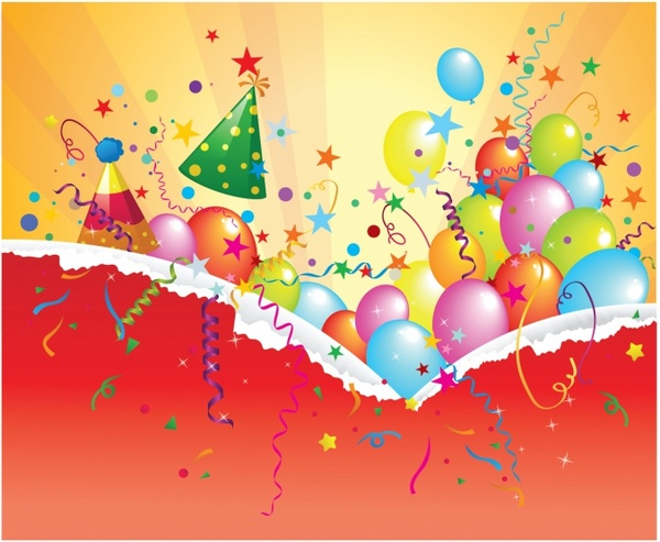 600x493 Birthday Party Banner Free Vector In Adobe Illustrator Ai ( .ai