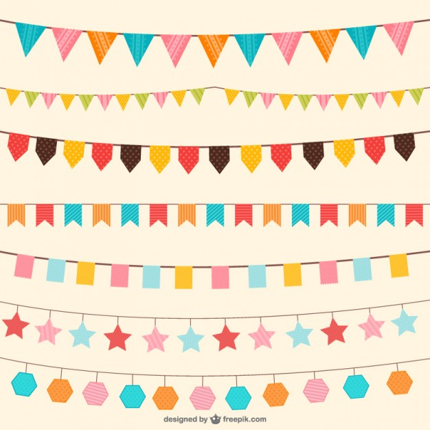 626x626 Birthday Decorations In Different Colors Vector Free Download