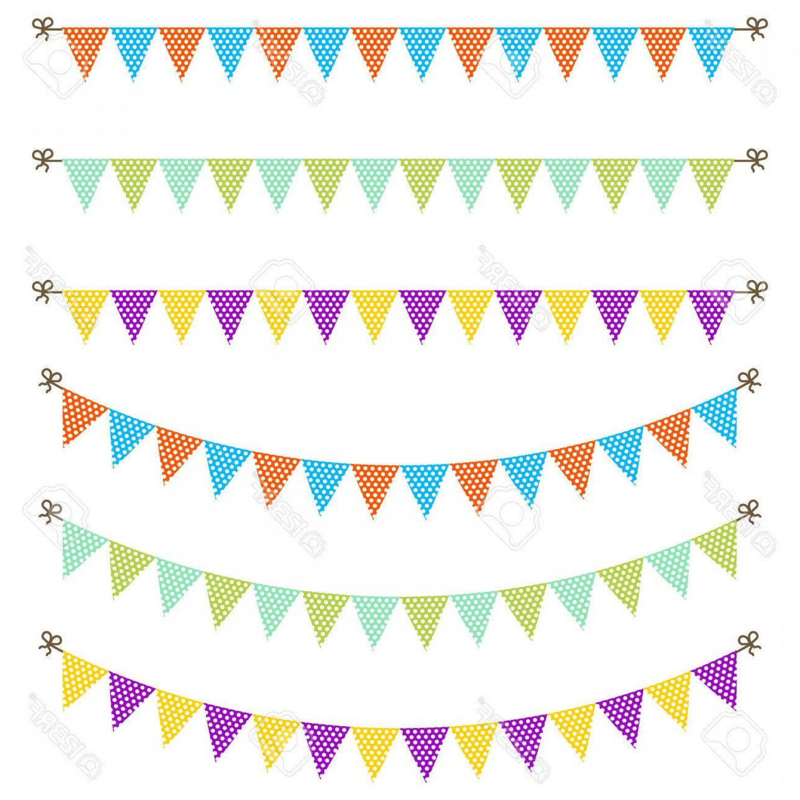 1560x1560 Give Thanks Pennant Banner New Bunting Garland Dotted Flags Vector