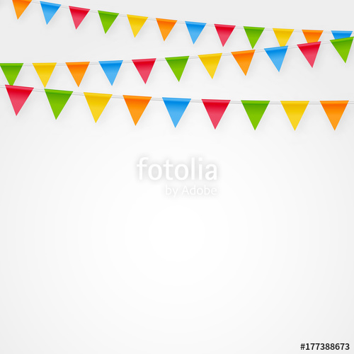 500x500 Minimalistic Festive Birthday Party Flags Bunting Decorations
