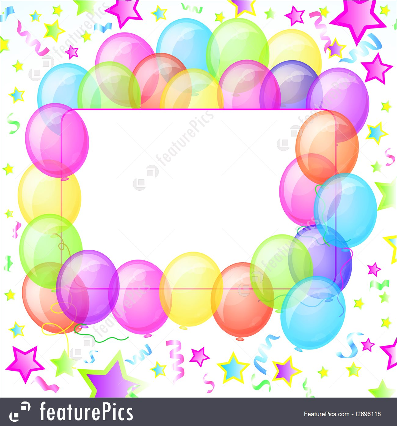 1300x1392 Party Balloons Banner. Vector.
