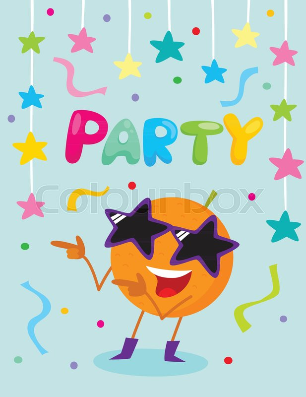 617x800 Party Banner, Flayer, Invitation Template With Cartoon Avocado