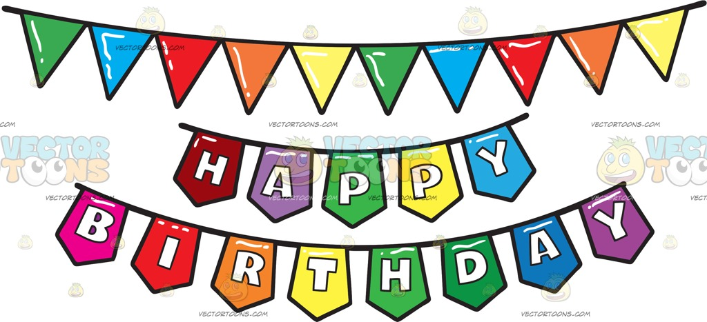 1024x467 A Colorful Birthday Party Banner Clipart By Vector Toons