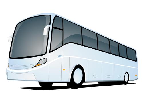 500x340 Funny Cartoon Bus Vector Set 06