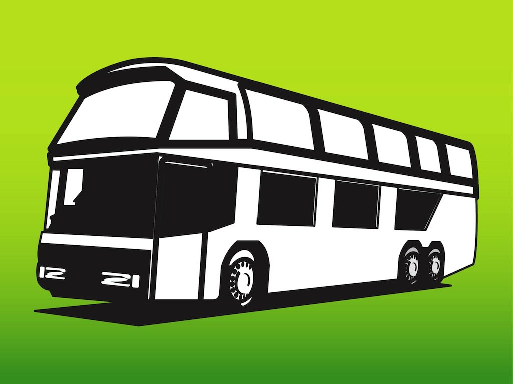 1024x768 Holiday Bus Vector Art Amp Graphics
