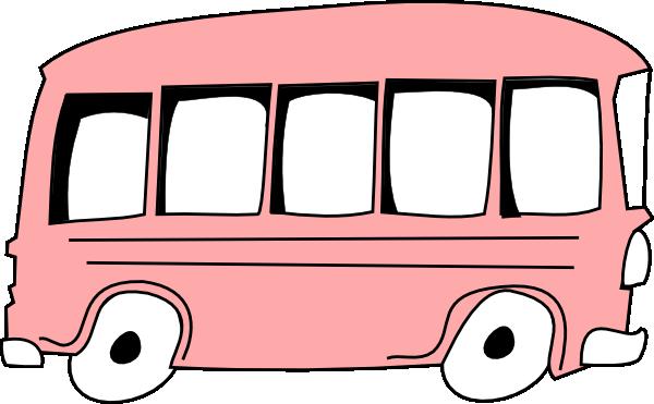 600x371 Pink Bus Clip Art