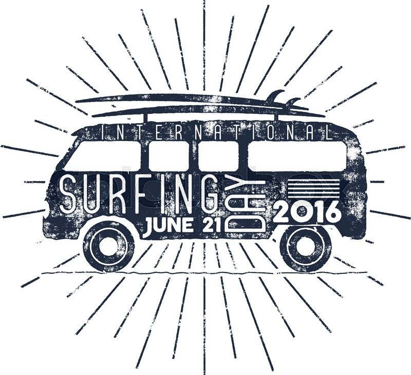 800x731 Surfing Day Typography Label. Vector Vacation Typographic Emblem