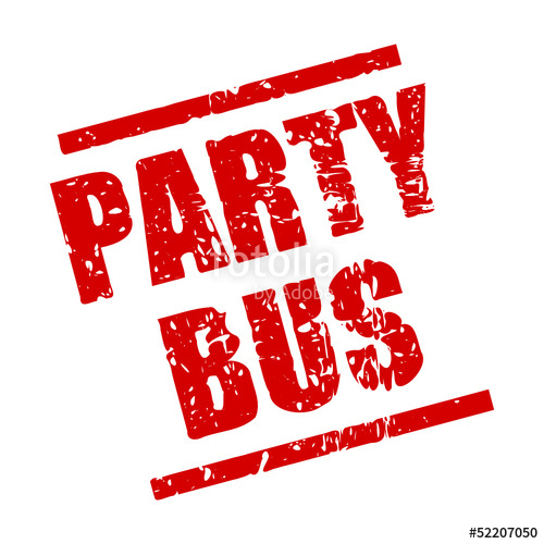 500x500 Stempel Eckig Party Bus I Stock Image And Royalty Free Vector