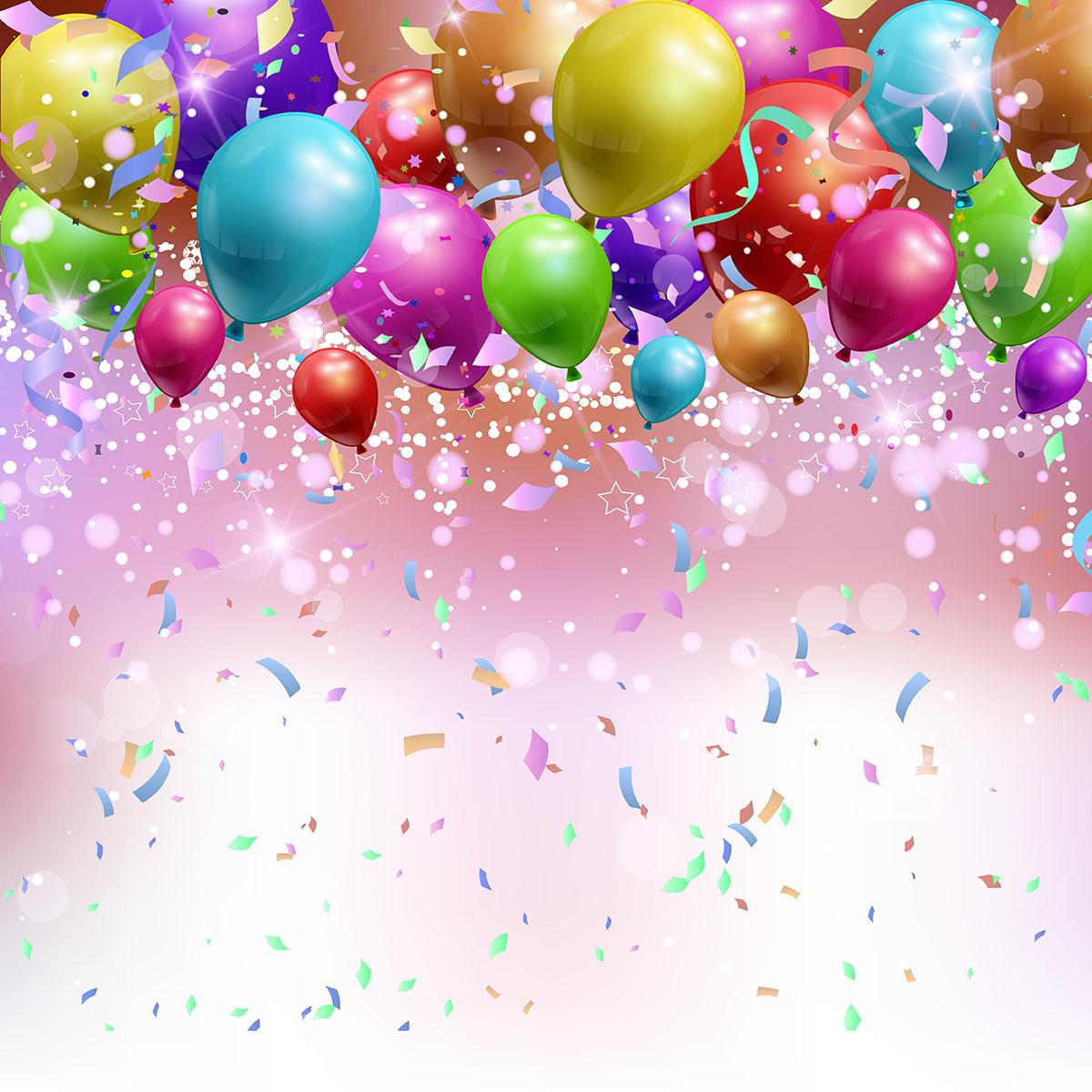 1200x1200 Party Confetti Free Vector Art