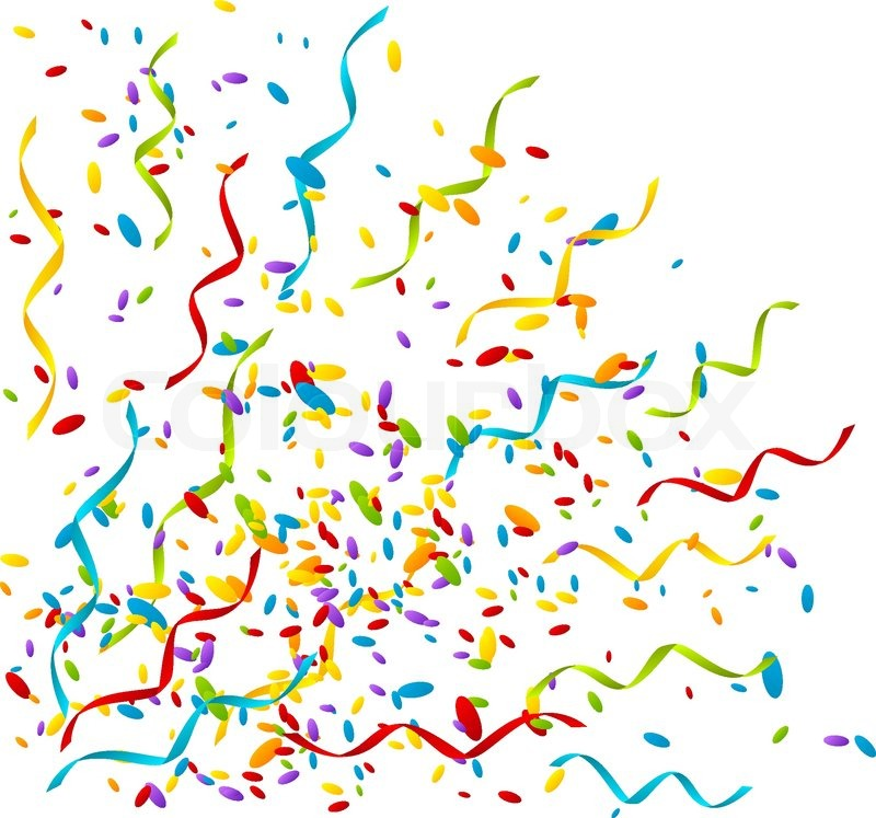 800x747 Party Background With Color Confetti Stock Vector Colourbox
