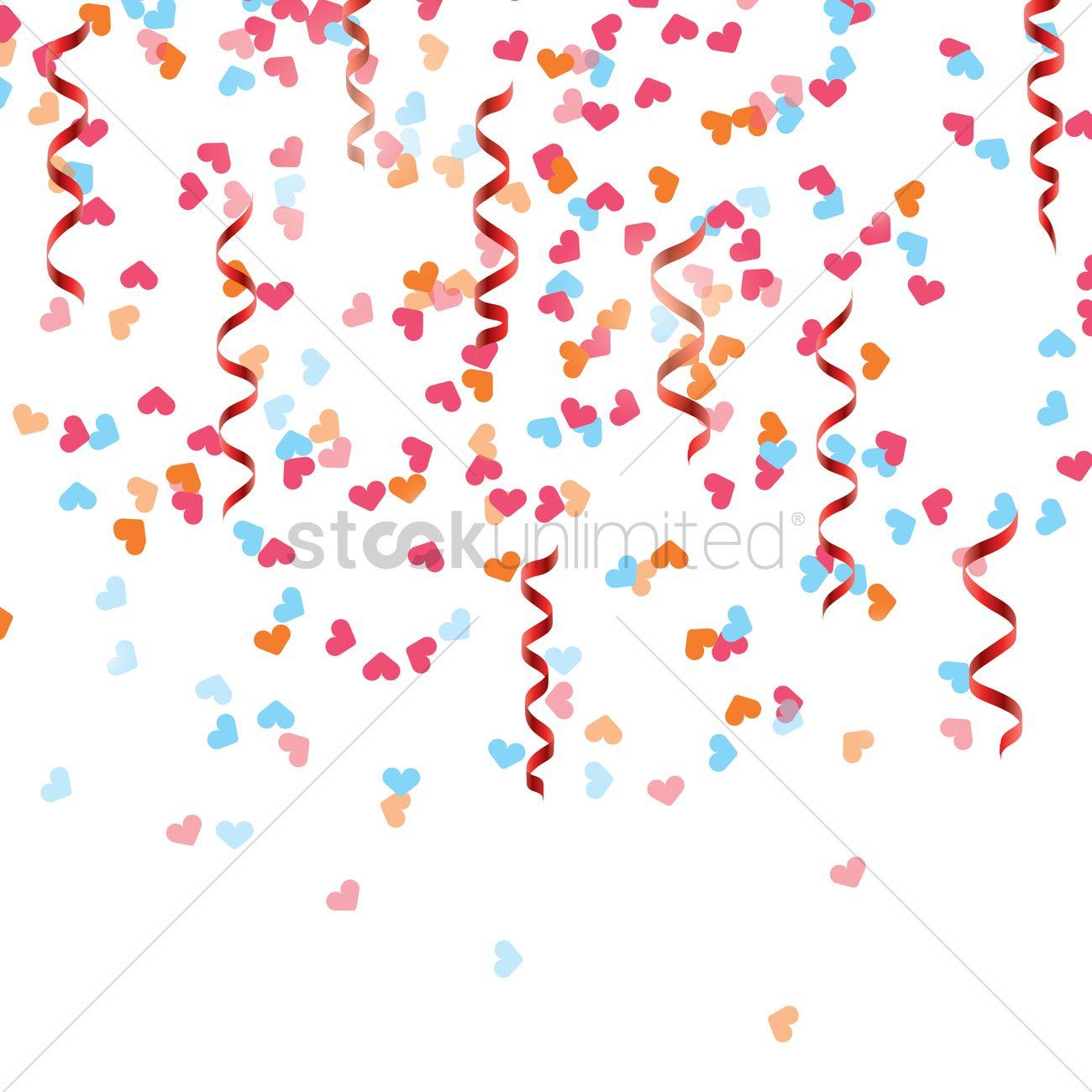1300x1300 Party Confetti Vector Image