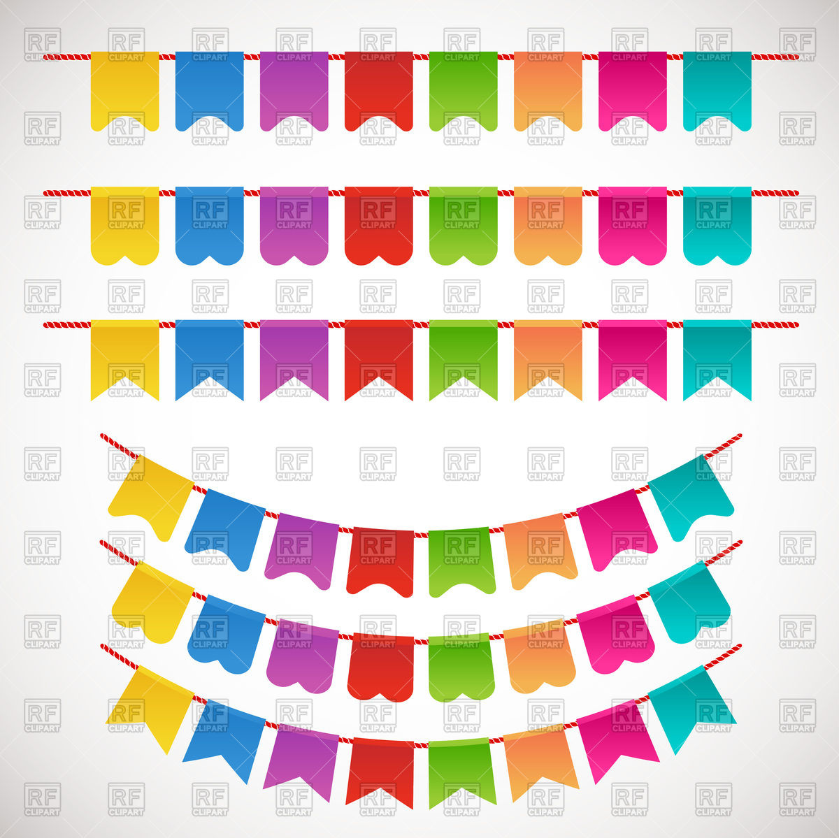 1200x1199 Colorful Garlands (Party Bunting)