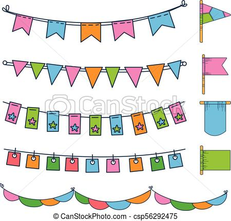 450x431 Colorful Bunting, Party Flags, Festival, Birthday, Holiday