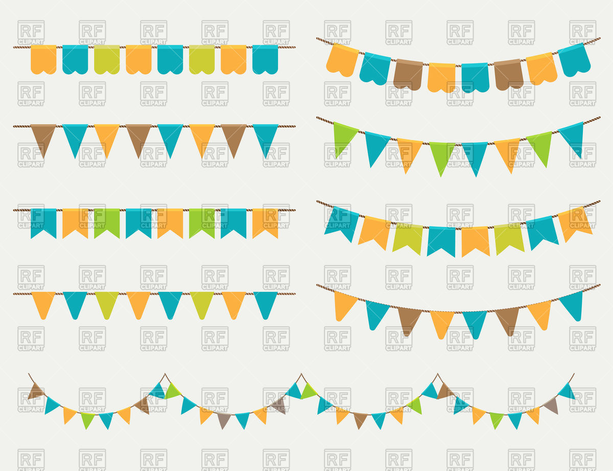 1200x923 Holiday Party Flags (Garlands)