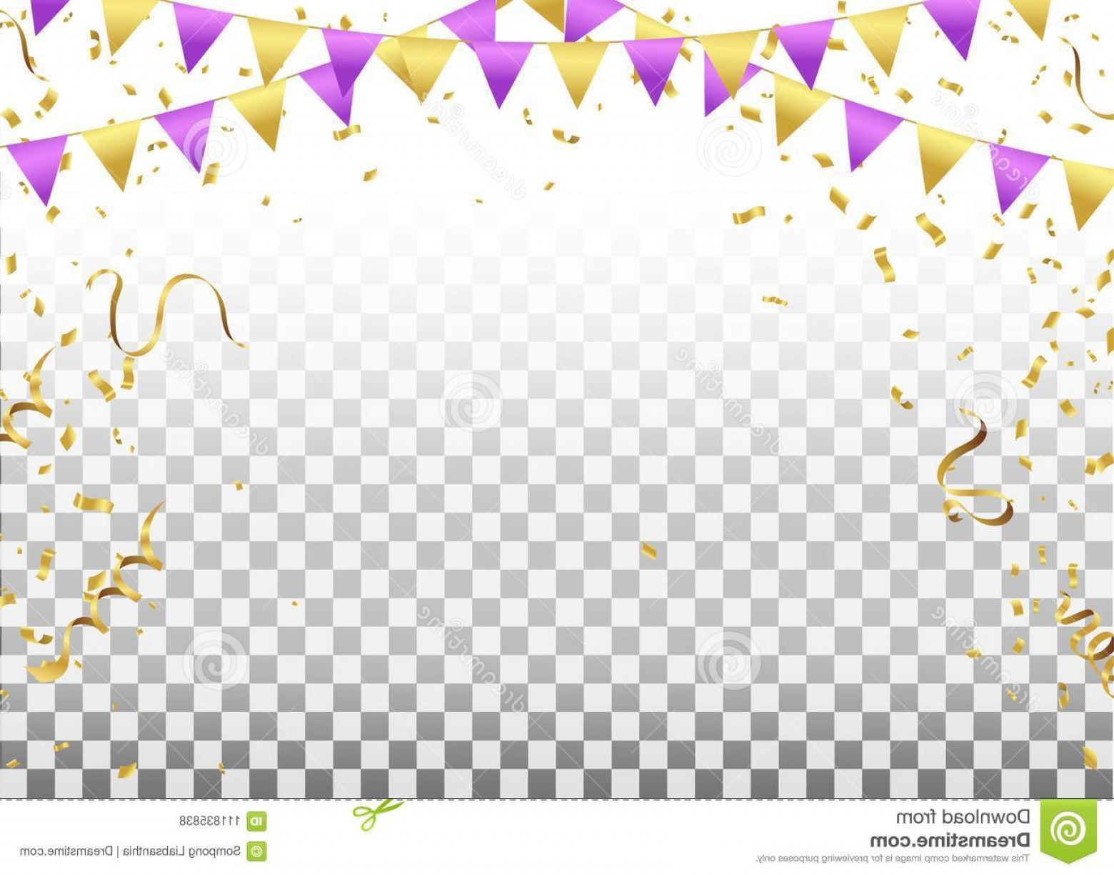 1560x1225 Party Flags Confetti Ribbons Falling Transparent Background