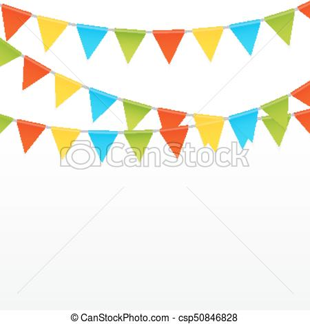 450x470 Party Background With Flags Vector Illustration. Eps10.