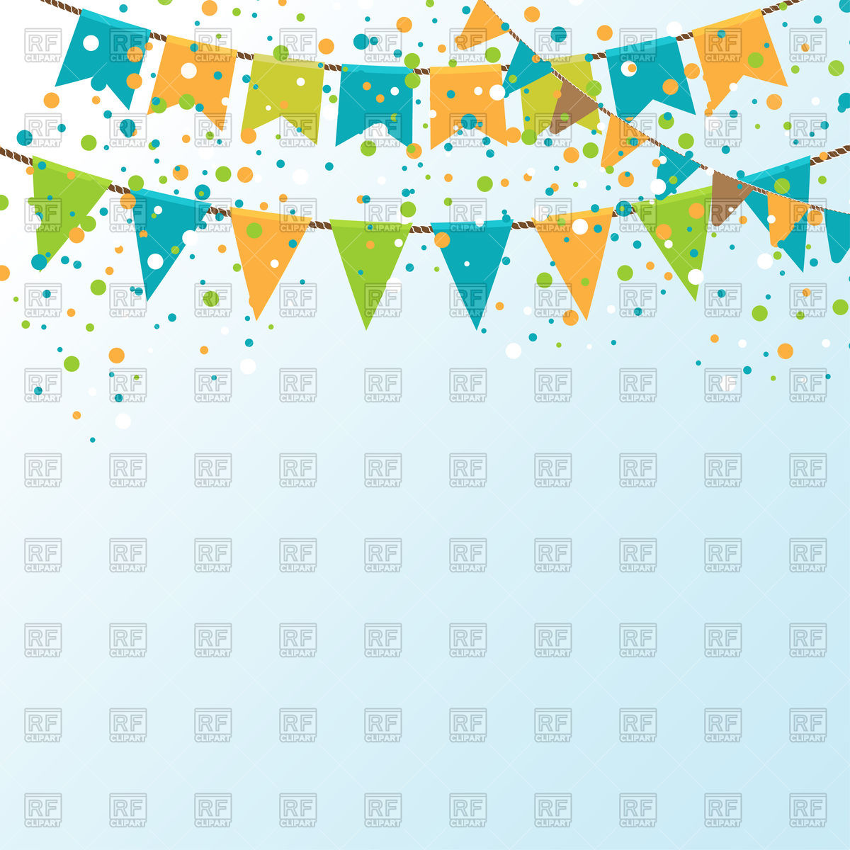 1200x1200 Party Bunting And Confetti