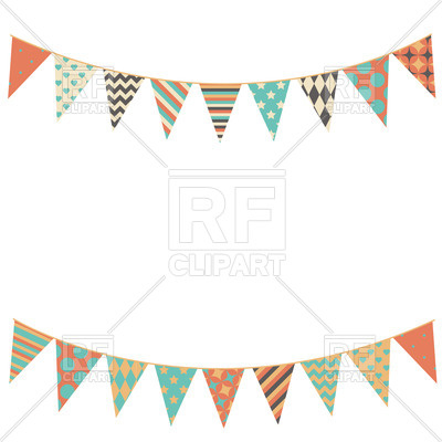 400x400 Party Bunting Flags Vector Image Vector Artwork Of Design