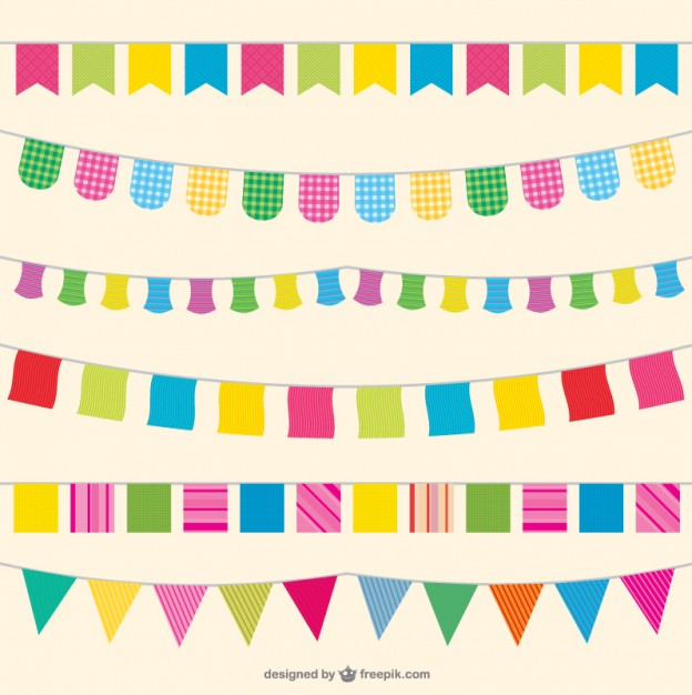 624x626 Party Flags Illustration Vector Free Download