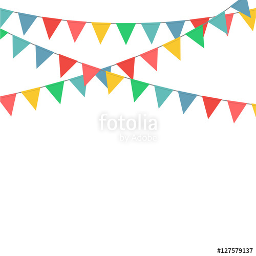 500x500 Bunting Flag Party Decoration Vector Stock Image And Royalty Free