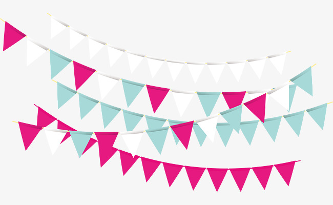 650x400 Party Triangle Bunting, Party Vector, Triangle Vector, Vector Png