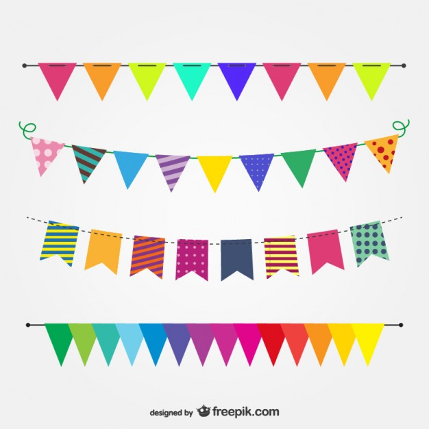 626x626 Colorful Garlands For A Party Vector Free Download