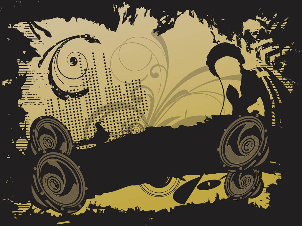 1024x765 Dj Party Vector Vector Art Amp Graphics