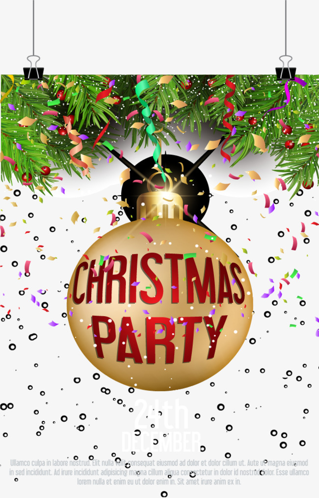 650x1016 Flash Christmas Party Invitations, Flash Vector, Christmas Vector