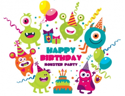 417x320 Monster Birthday Party Vector Ai,eps Format Free Vector Download