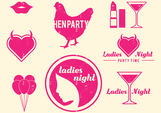 632x443 Retro Hen Party Design Elements Free Vector Download 405867 Cannypic