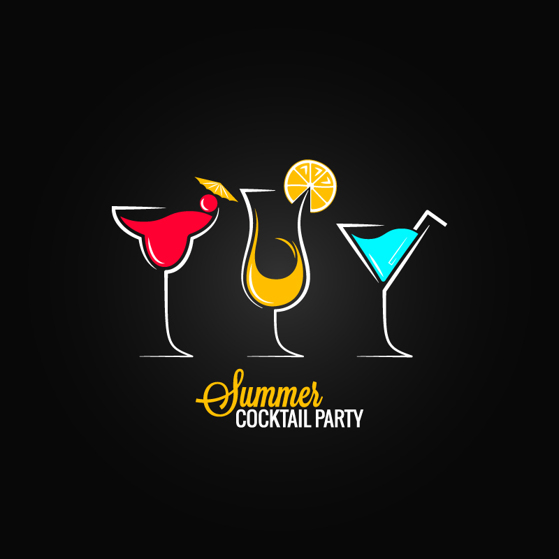 800x800 Summer Cocktail Party Vector Free Vector Graphic Download