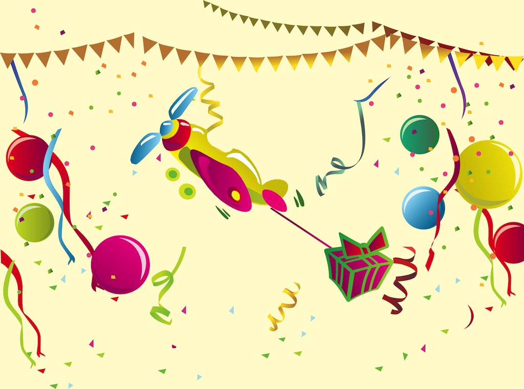 1024x761 Birthday Party Vector Art Amp Graphics