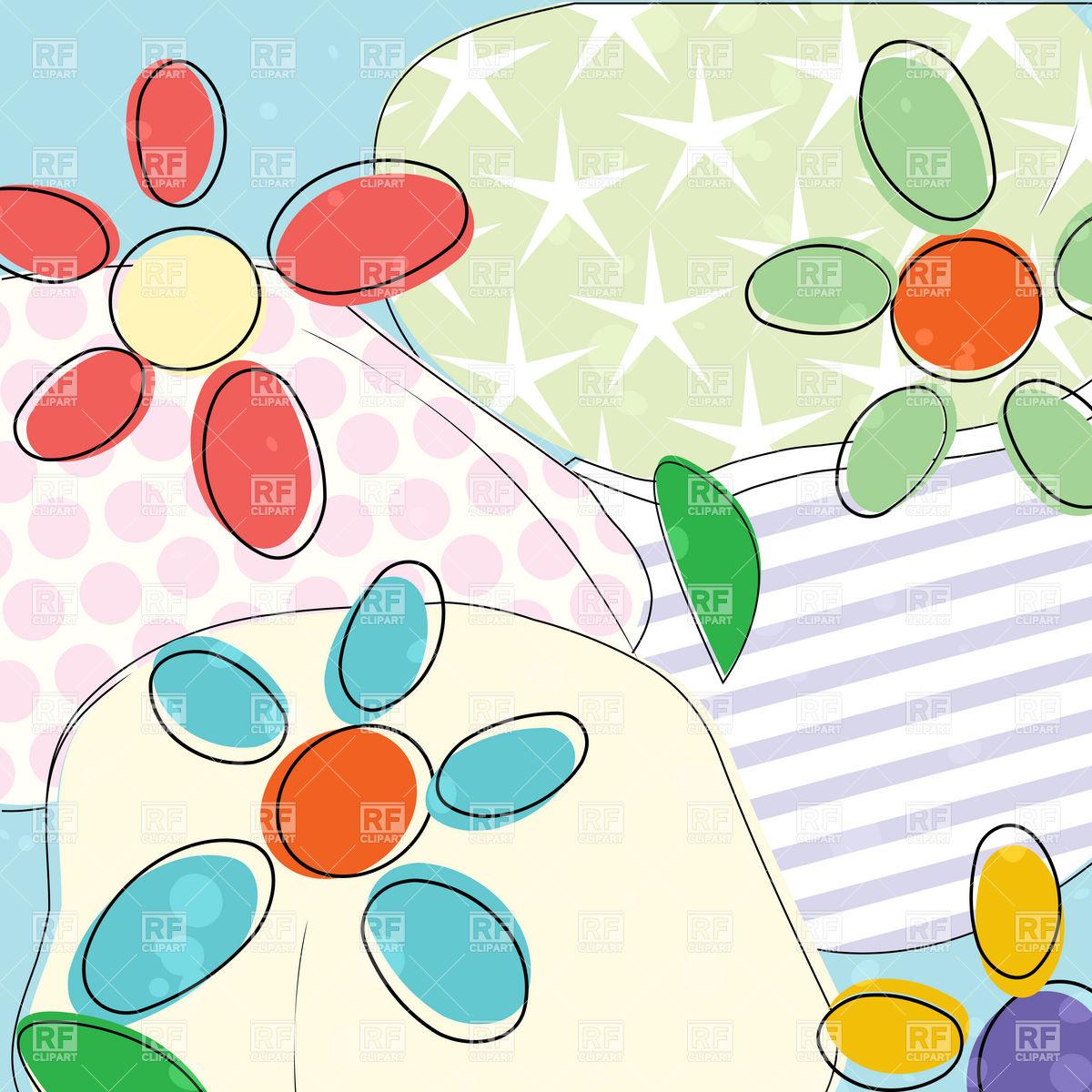 1200x1200 Flower Background In Pastel Colors Vector Image Vector Artwork