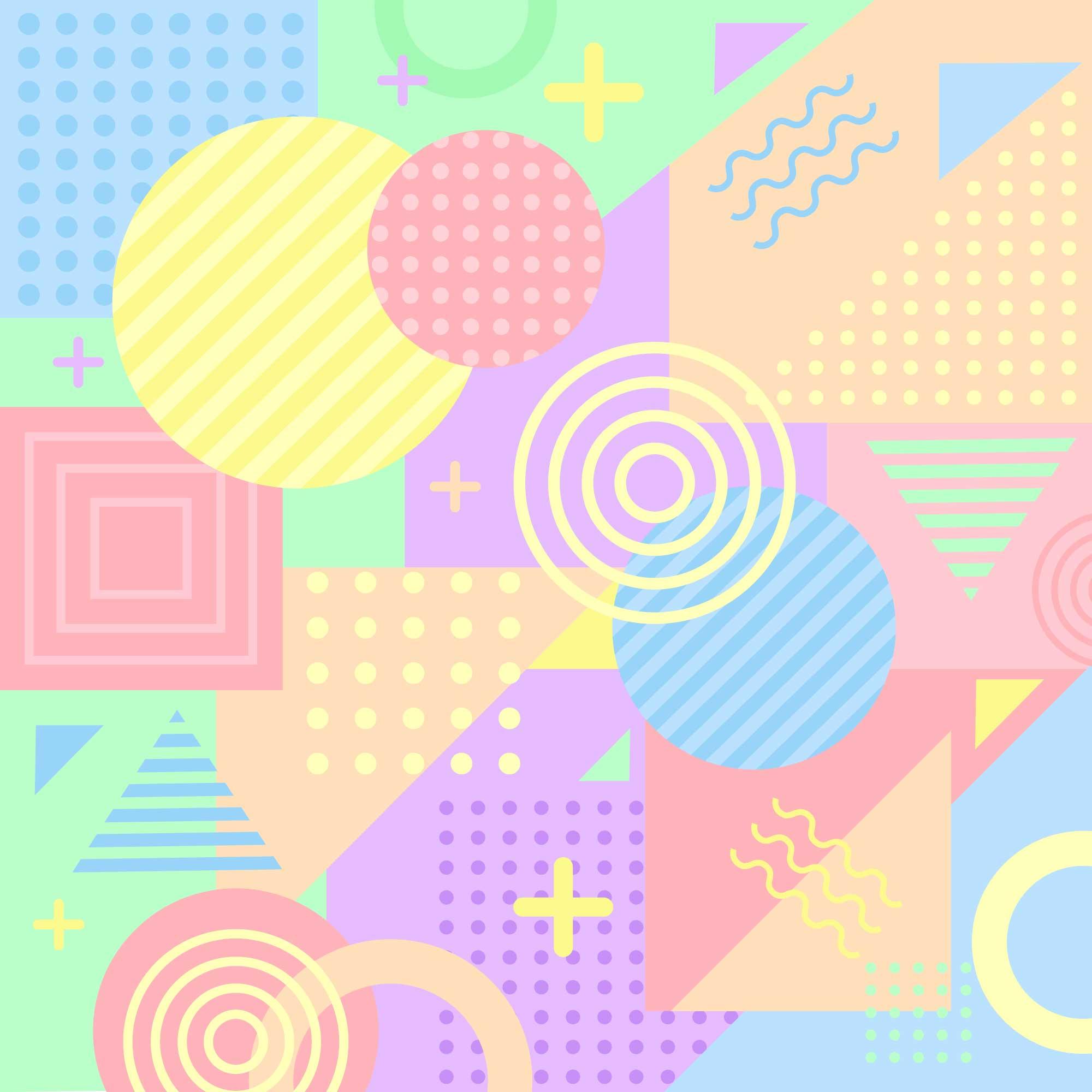 2000x2000 Pastel Colors Free Vector Art