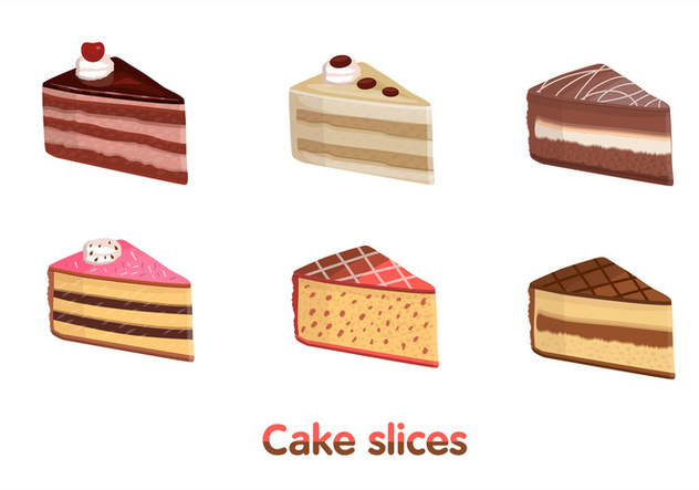 632x443 Cake Slice Vectors Free Vector Download 274615 Cannypic