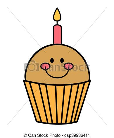 390x470 Delicious Cupcake Sweet Pastry Vector Illustration Design.