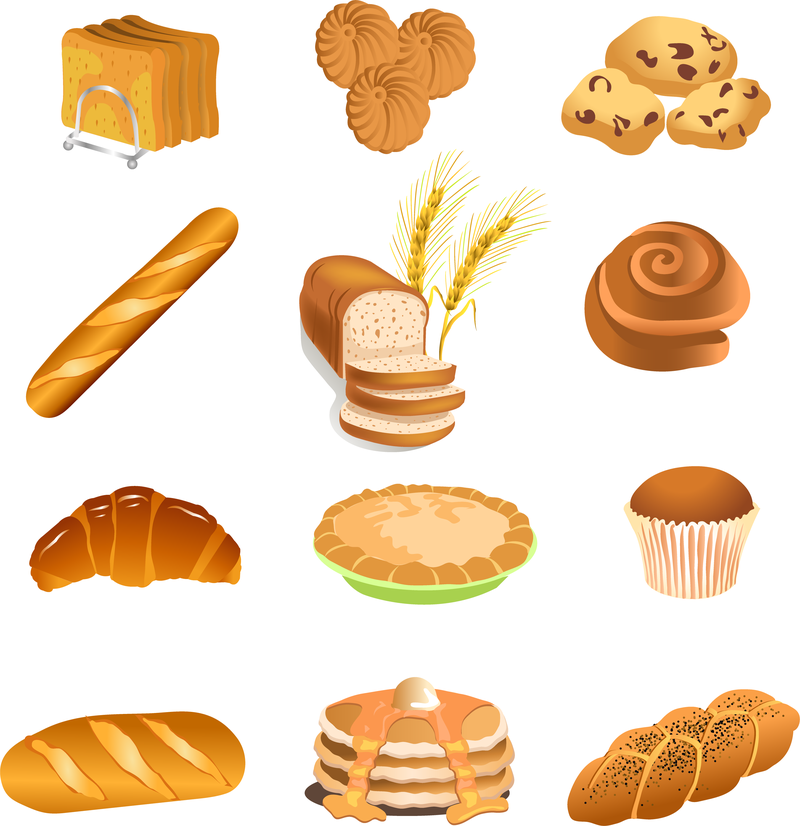 800x826 Fastfood Breakfast Pastries Vector