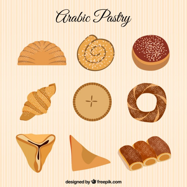 626x626 Hand Drawn Arabic Pastry Vector Premium Download