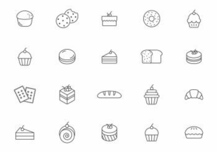 700x490 Bakery And Pastry Vectors