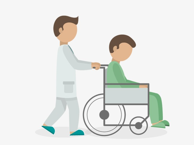 650x487 Vector Doctor Pushing Patient, Doctor Vector, Hd, Vector Png And